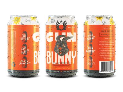 Gun Bunny artillery focus lab branding service brewing oranges gun bunny witbier beer