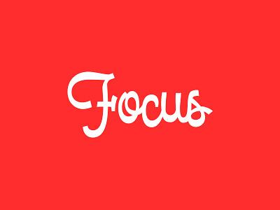 Focus Script focus red reverse contrast focus lab typography type script lettering
