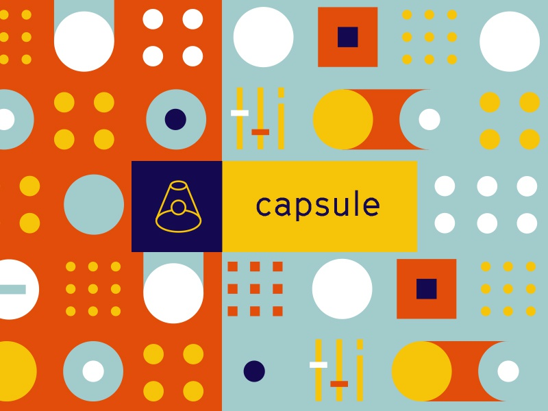Capsule cinetype space capsule color focus lab branding control panel exploration