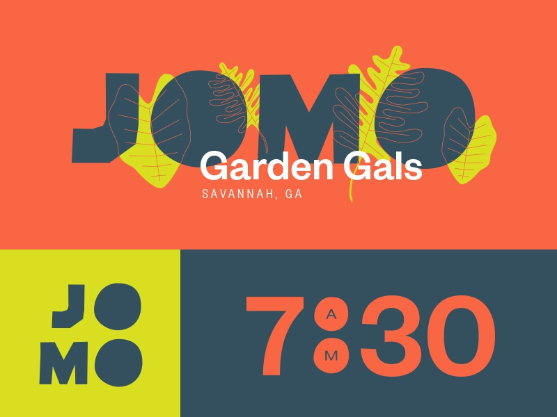 Relativity + Garden Gals garden leaves colon relativity time colors typography lettering logotype jomo branding