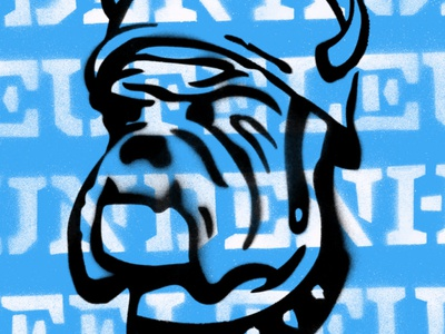 Devil Dog design typography illustration focus lab spray paint stencil type bulldog