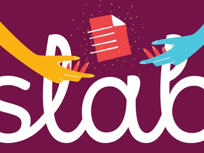 Celebrate! hands document color logotype lettering branding slab