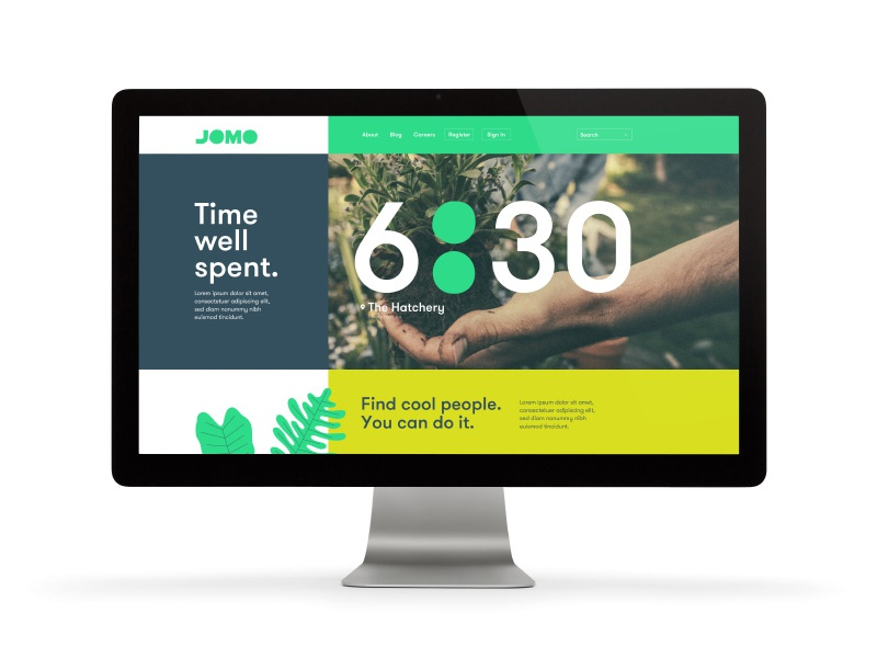 Time : Well Spent colon color jomo leaves time logotype branding