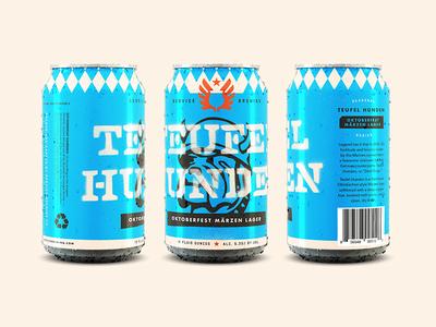 Teufel Hunden graffiti letters stencil typography lettering oktoberfest bulldog design can design beer