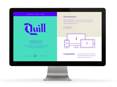 Quill Concept focus lab ink color design quill blackletter lettering logotype branding