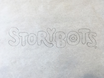 StoryBots gear letters red design typography lettering logotype tv kids storybots
