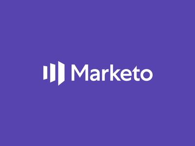 Marketo Rebrand! doors marketo purple logotype typography type logo mark color design focus lab branding