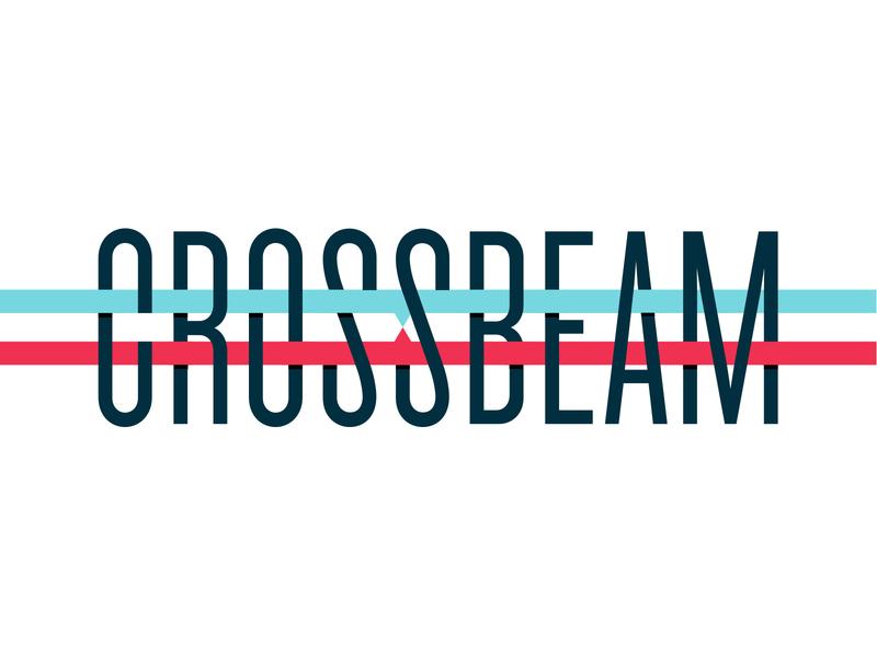 Crossbeam framework crossbeam focus lab mark logotype logo color branding design typography branding