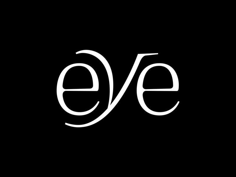 👁 eye type black and white letters type design typography