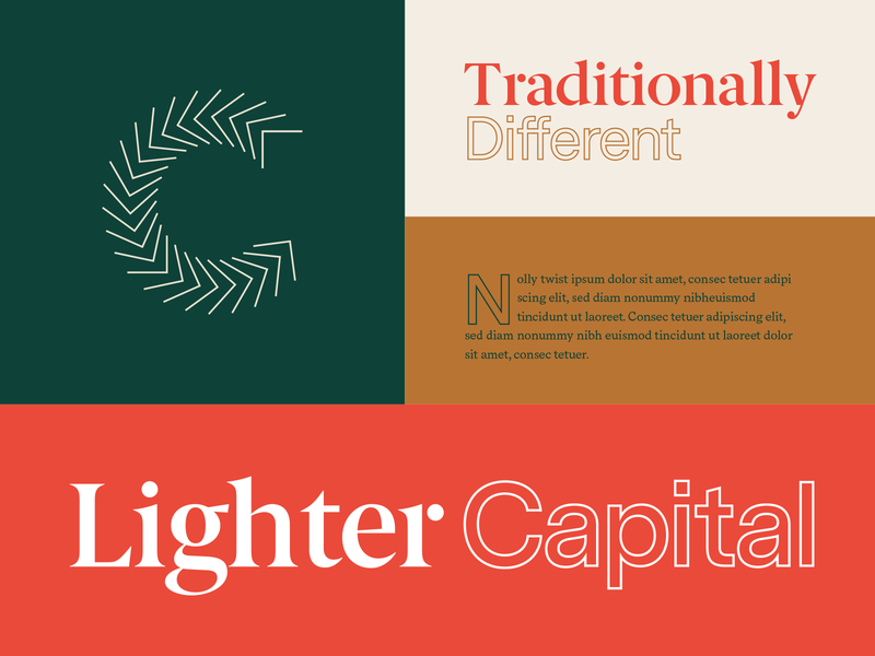 Traditionally Different branding design focus lab different traditional capital money mark color type typography branding