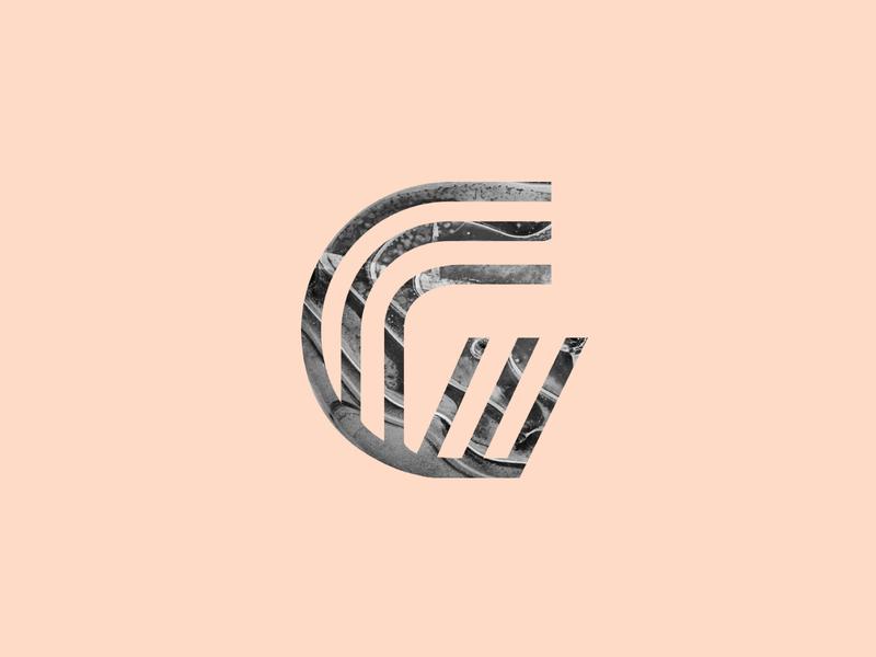 Monogram G lines metal focus lab typography g monogram branding design