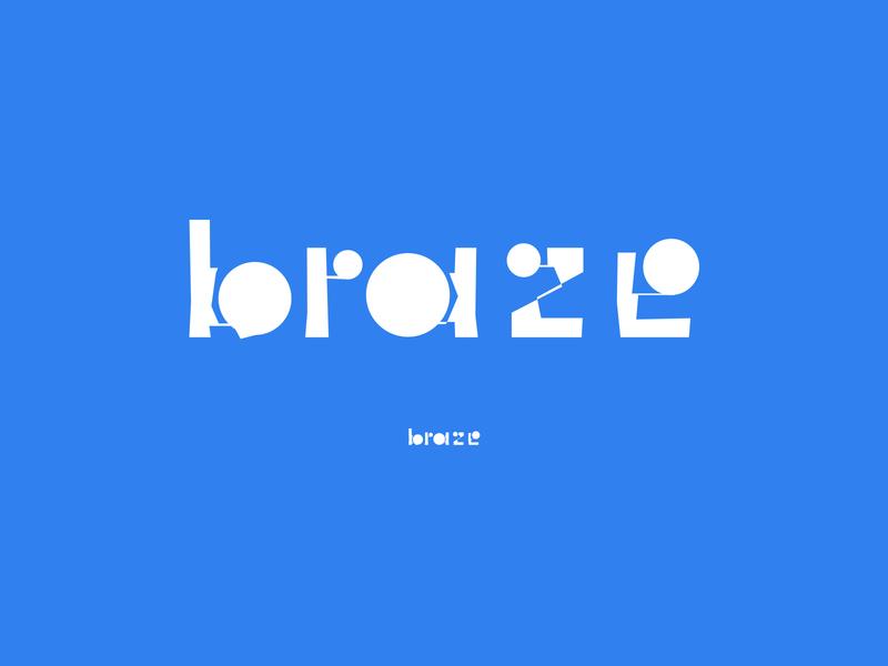 Brazin' concept focus lab braze metal type logotype branding experimental typography