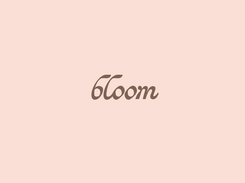 bloom brown pink branding design typography lettering focus lab logotype