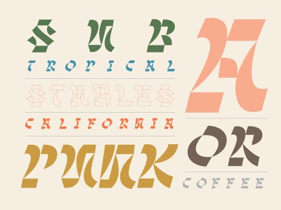 Sub Punk experimental letters type color design lettering focus lab typography