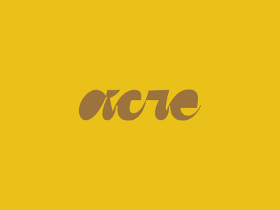 acre yellow logotype script letters type color focus lab design branding lettering typography