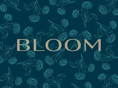 Bloom flowers logotype letters type color design lettering branding focus lab typography