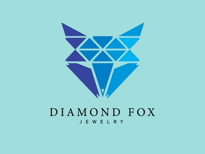 Diamond Fox Logo Concept diamond logo diamond design fox fox logo animal minimalist flat icon branding logo design logo