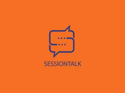 Session Talk Logo Concept talk s letter logo chat branding minimalist flat logo design logo