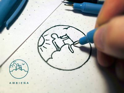 Ambiena logo design - process