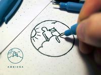Ambiena logo design - process