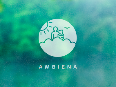 Ambiena logo design variation