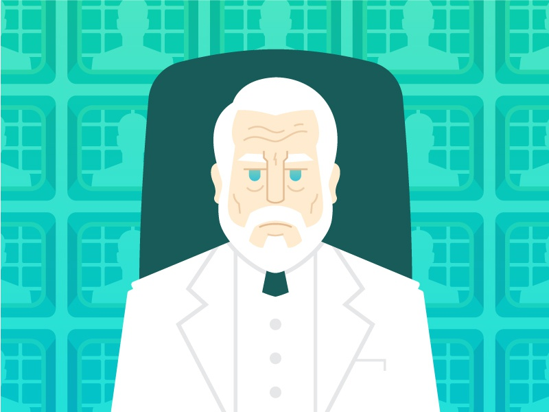 The Architect gradient flat matrix suit person illustration portrait computer code craftcms architect