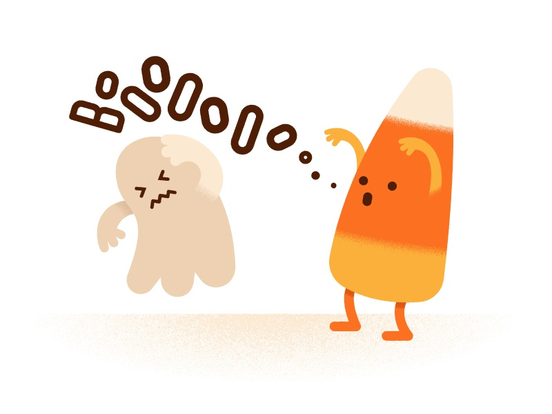 Candy Corn october ghost candy halloween illustration flat texture