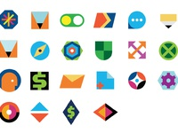 Simple geometric icons 02