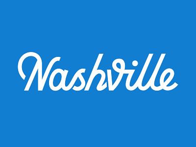 Nashville Vibe tennessee hand lettering orange quiz blue vibe nashville script