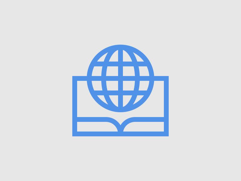 Globe Logo logo globe mark mid century newspaper book text edition paper world universal