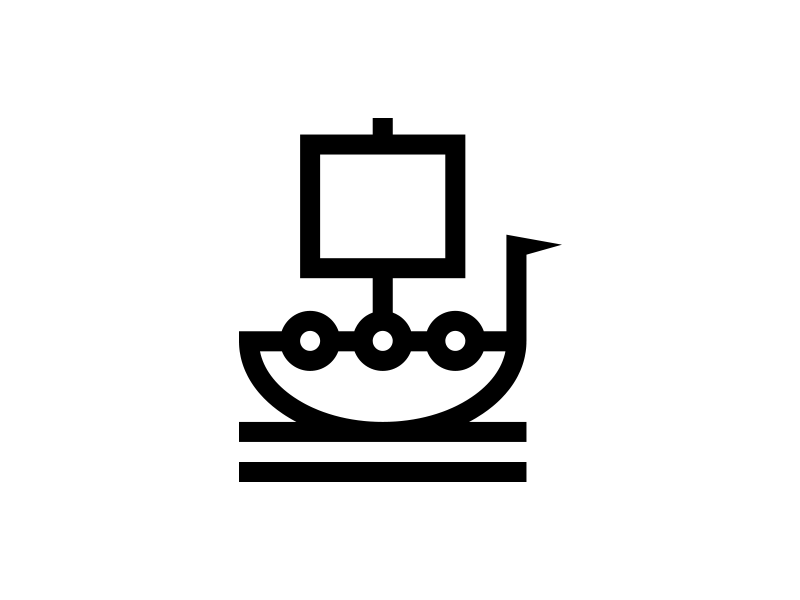 Viking bold symbol graphic icon ship logo boat viking