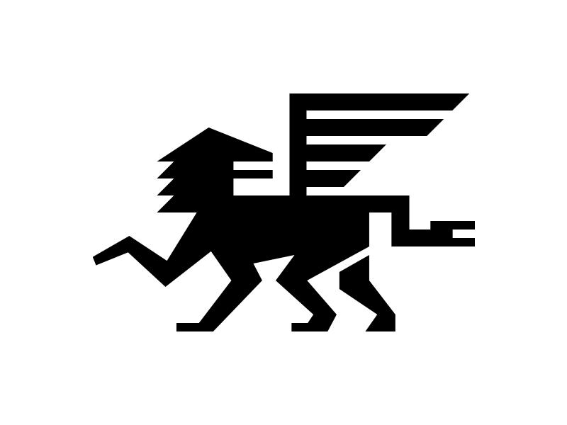 Chimera branding myth gryphon cat lion chimera symbol icon logo