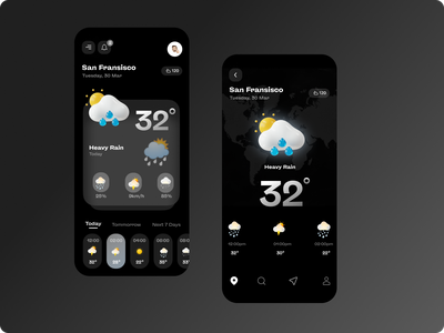 Weather App Design icon logo flat web clean branding typography minimal vector design ux app ui illustration