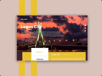Landing Page : Lagos Nigeria ux logo design illustration flat animation minimal typography vector app