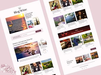 blog about wine blog wine vector site web ux ui design
