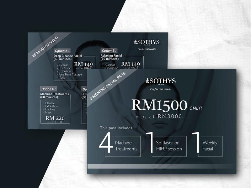 Sothys product voucher voucher design voucher service voucher design layout design