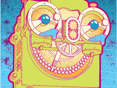 midnight gospel retro machine illustration