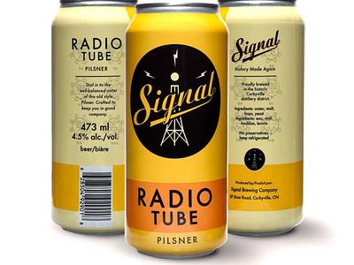 Radio Tube Pilsner Cans identity logo illustration design beer branding beer art beer can packaging