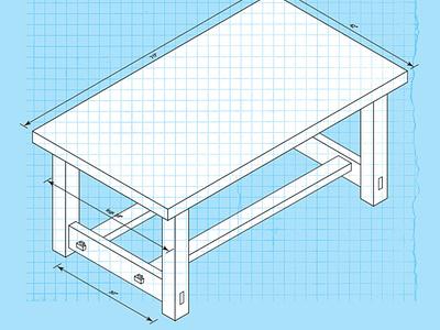 workbench woodworking workbench build blueprint table isometric plan