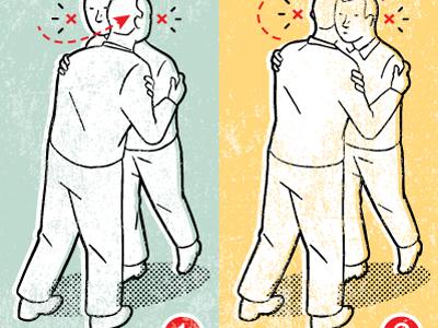 Cheek kiss spot diagram instruction kiss cheek illustration etiquette