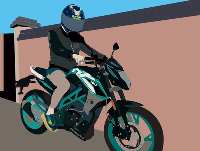 cf moto 150 nk illustration