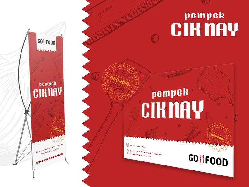 Visual Identity Pempek CIk Nay logodesign design branding food design brand identity design banner design