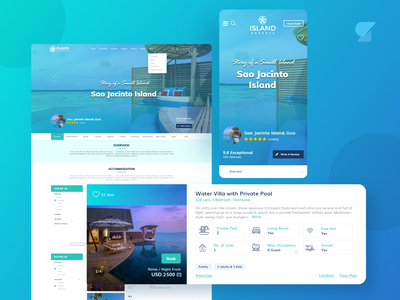 Island Travel Platform front-end development web design ui  ux prototype mobile app android ios illustrator iocns graphic developement design android app