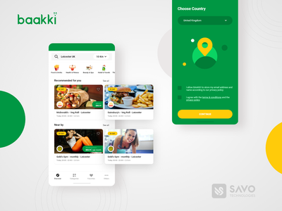 Baakki- App iphone app android app delivery app ecommerce app app development app design
