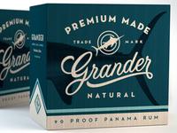 Grander Panama Rum shipper