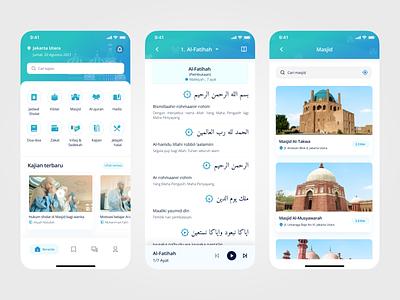 Muslim Explorer UI/UX Design mobileappdesign uidesign quranuiuxdesign quranapp muslimuiuxdesign muslimapp ui