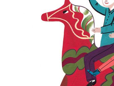 dala horse painting dala horse gouache