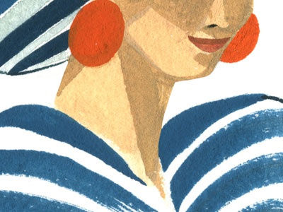 diana diana jezebel illustration gouache portrait