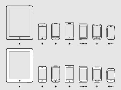 Outline devices pixle
