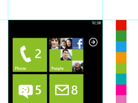 Wp7 start screen preview